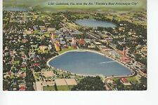 Linen Aerial View of Lakeland  FL Fla    L-24