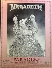 Megadeth: Amsterdam, 2008 Poster, Signed by John Seabury (Artist Proof Edition)