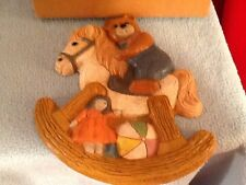 Rocking Horse and Teddy Bear Plaque Vintage Home Interiors