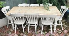 Pine Up to 8 Seats Table & Chair Sets with Drawers