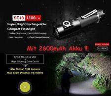 Klarus ST10 USB-Aufladbare Taschenlampe 1100 Lumen + Akku + Ladekabel + Halter