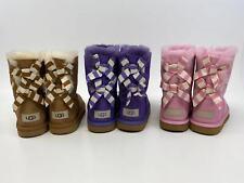 UGG Kids Bailey Bow II Stripe Boots