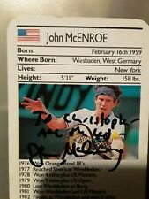 1987 John Mcenroe Ace Fact Pack Autographed RC Rookie Card HOF Tennis signed