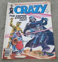 CRAZY Vol 1 #66 September 1980 Comic book Magazine STAR WARS Empire strikes back