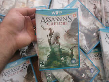Assassin's Creed III 3 Nintendo Wii U BRAND NEW FACTORY SEALED UBISOFT US EDIT.