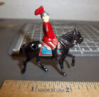 beautiful Lead Soldier, Soldier on horseback, 50s era excellent, Red shirt & hat