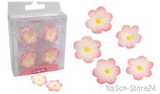 (0,33€/St.)Culpitt Zucker Blumen Daisy pink 12 Stück Tortendeko Cupcakes Muffin
