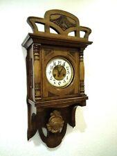 Antiker Jugendstil Freischwinger Gustav Becker Regulator Wanduhr 1910 Clock Uhr