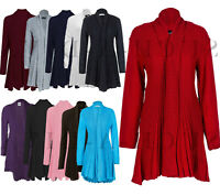 Ladies Women Waterfall Boyfriend Knitted Cardigan Jumper Jacket Cape Coat UK8-26