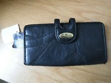 Black Leather Ladies Purse Wallet
