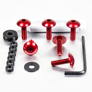 Screws Kit Fairing Aluminum Ducati Monster S2R800 05-07 Red