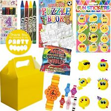 Pre Filled Girls Princess Party Bags Yellow Box Birthday Activity Packs Favours