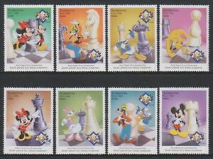 Azerbaijan - 1998, World Rapid Chess, Disney Mickey Mouse set - MNH - SG 440/8