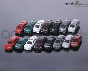 20 x Model Cars BMW/Porsche usw. for diecast models 1:150, Model railway N Gauge