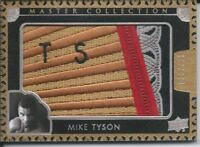 2016 UD All Time Greats Master Collection MIKE TYSON Logo Patch 015/125