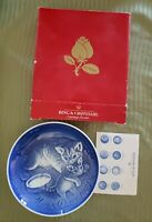 1971 Mama Cat & Baby Kitten Mothers Day Plate BING & GRONDAHL  with box