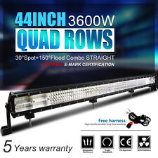 "10D Quad-Row 3600W OSRAM 44Inch LED Light Bar Flood Spot Driving Lamp VS 52"" UTB"