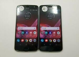 Lot of 2 Motorola Moto Z2 Play XT1710-02 Verizon Check IMEI Grade D RJ-598