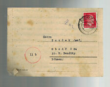 1944 Germany Buchenwald Concentration Camp Cover KZ Gustav Soucek to Bohemia