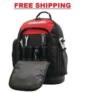 Husky 16 in. Tool Backpack Construction Home Auto Garage DIY Work Storage Tote