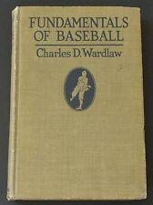 "1924 ""Fundamentals Of Baseball"" by Charles D. Wardlaw~Not Often Seen~24 Photos"