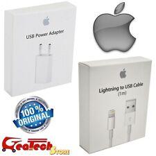 Cavo Lightning + Caricabatterie A1400 ORIGINALE Apple Per iPhone 5S 6 6S 7 Plus