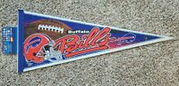 Vintage Buffalo Bills NFL Football Pennant Full Size Licensed Colorful 90s VTG