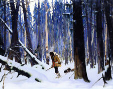 Gagnon Clarence Trapper In The Woods Canvas 16 x 20    #3295