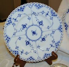 Royal Copenhagen Blue Fluted Full Lace Dessert Plate Vintage Estate Sale
