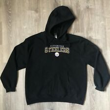 Pittsburgh Steelers Embroidered NFL Hoodie - Size Large - Black