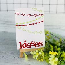 Hugs Kisses Alphabet Metal Cutting Dies For DIY Scrapbooking Album Paper Cards M