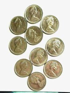 Lot of 10 CANADIAN Quarters 25 cents 1968-1976 Queen Elizbeth ll