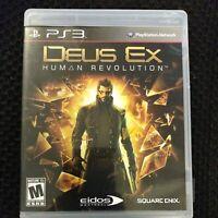 Deus Ex: Human Revolution (Sony PlayStation 3, 2011) PS3 Video Game Complete CIB