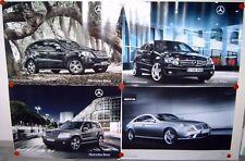 Mercedes Benz M-Klasse, GLK, C-Klasse, CLS 55 AMG - 4x Poster (jedes 84 x 59 cm)