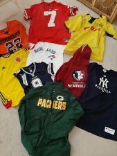 Wholesale Lot Of 12 Mix Sports -  NFL/MLB/Soccer Jerseys - Hoodies Adult & Youth