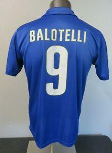 Mens Puma Italia Mario Balotelli 9 FIGC Authentic Soccer Jersey Size M Polyester
