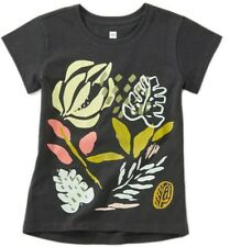TEA COLLECTION Flora Graphic S/S Top - Iron - NWT Girls 10
