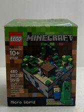 LEGO Minecraft Overworld Micro World Set 21102 with mini Steve and Creeper