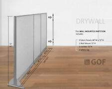 Gof Wall Mounted Office Panel Divider 144w X 48h 144w X 60h 144w X 72h