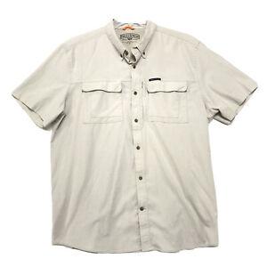 Field & Stream Outdoor Short Sleeve Shirt XXL 2XL Khaki Tan Fishing Hiking *READ
