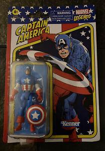 """CAPTAIN AMERICA Marvel Legends Retro Avengers 3.75"""" Figure Hasbro Kenner New!"""