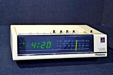 PANASONIC RC-6050 ALARM CLOCK RADIO AM/FM DIGITAL -RARE WHITE COLOR