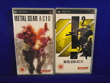 psp METAL GEAR SOLID ACID 1 + 2 *X Games Playstation PAL ENGLISH Version