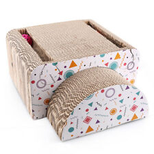 Cat Scratching Post House Bed Mat Board Pad Furniture for Play Ball Toy Catnip