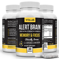 Alert Brain™ Memory & Focus Booster Brain Supplement Advanced Nootropic