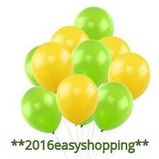 """Happy Easter Balloons 10"""" Yellow & Green Spring Plain Baloons BALON Ballon"""