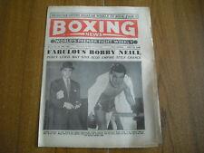 BOXING NEWS - JULY 25th 1958 - BOBBY NEILL, JOHNNY VAN RENSBURG, YVON DURELLE