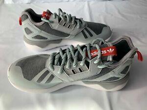 Adidas Tubular Runner Weave Gray/White/Red Men's Sneaker S82650 SIZE 7