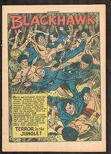 """Blackhawk #54 ~  Terror in the Jungle"""" ~ 1952 (.5) WH"""