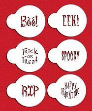 Halloween Sayings Cookie Stencils by Designer Stencils #C574